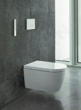 Duravit SensoWash Starck - Elektronické bidetové sedátko f Lite Compact s keramikou, Rimless, SoftClose, HygieneGlaze, alpská bílá 650001012004310