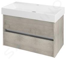 Sapho Nirona - Umývadlová skrinka 820x515x430 mm, dub mocca NR086