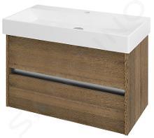 Sapho Nirona - Umývadlová skrinka 820x515x430 mm, dub Sherwood NR087