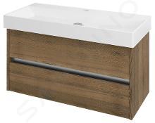 Sapho Nirona - Umývadlová skrinka 950x515x430 mm, dub Sherwood NR102