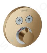 Hansgrohe Shower Select - Miscelatore termostatico ad incasso per 2 utenze, bronzo spazzolato 15743140