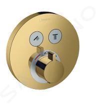Hansgrohe Shower Select - Thermostatarmatur - Unterputz für 2 Verbraucher, Gold poliert 15743990