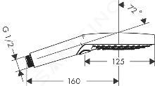 Hansgrohe Raindance Select S - Pommeau de douche 120, 3 jets, EcoSmart, bronze brossé 26531140