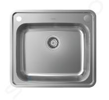 Hansgrohe Abwäschen - Granit-Einbauspülbecken S412-F540 mit automatischer Ablaufgarnitur, Edelstahl 43336800