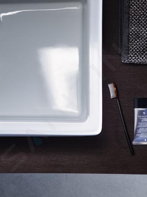 Duravit Vero - Aufsatzwaschtisch, 500x470 mm, mit 1 Hahnloch, mit WonderGliss, Alpinweiß 04525000001