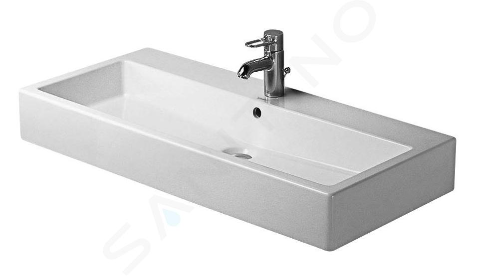 Duravit Vero - Waschtisch 1000x470 mm, mit 1 Hahnloch, mit WonderGliss, Alpinweiß 04541000001