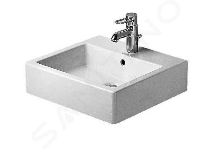 Duravit Vero - Waschtisch 500x470 mm, mit 1 Hahnloch, mit WonderGliss, Alpinweiß 04545000001