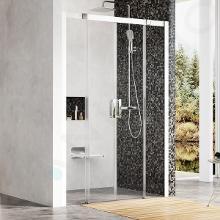 Ravak Matrix - Sprchové dvere posuvné MSD4-140, štvordielne, 1375-1415 mm, farba satin/sklo transparent 0WKM0U00Z1