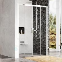 Ravak Matrix - Sprchové dvere posuvné MSD4-160, štvordielne, 1575-1615 mm, farba satin/sklo transparent 0WKS0U00Z1