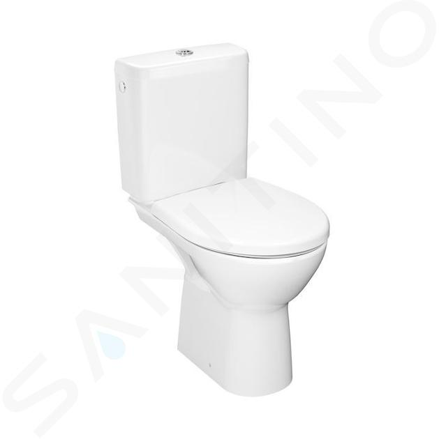 Jika Lyra plus - WC kombi set s nádržkou, vodorovný odpad, Rimless, biela H8273860002801