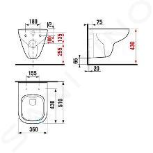Jika Deep - Závěsné WC, Rimless, Dual Flush, bílá H8206140000001