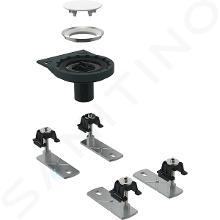 Geberit Setaplano - Odtoková súprava na sprchové vaničky, so 4 nožičkami, bez sifónu, inštalácia cez podlahu 154.030.00.1