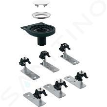 Geberit Setaplano - Odtoková súprava na sprchové vaničky, so 6 nožičkami, bez sifónu, inštalácia cez podlahu 154.031.00.1