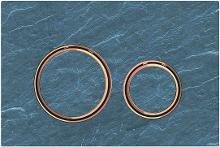 Geberit Sigma21 - Ovládacie tlačidlo na 2 množstvá splachovania, bridlica Mustang/červené zlato 115.650.JM.1