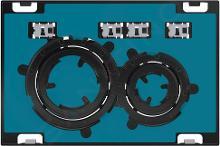 Geberit Sigma21 - Bedieningsplaat, dual flush spoeling, rood goud/zonder afdekplaat 115.651.00.1