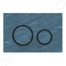 Geberit Sigma21 - Bedieningsplaat, dual flush spoeling, Mustang leisteen/zwart chroom 115.651.JM.1