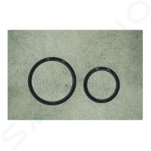 Geberit Sigma21 - Ovládacie tlačidlo na 2 množstvá splachovania, dekor betónu/čierny chróm 115.651.JV.1