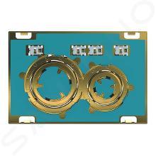 Geberit Sigma21 - Plaque de déclenchement 2 touches, laiton / sans plaque de finition 115.652.00.1