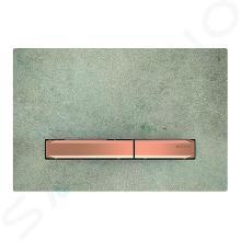 Geberit Sigma50 - Plaque de déclenchement 2 touches, décor béton/or rouge 115.670.JV.2