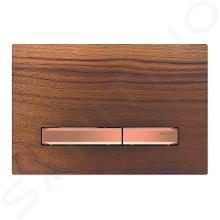 Geberit Sigma50 - Plaque de déclenchement 2 touches, noyer américain /or rouge 115.670.JX.2