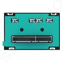 Geberit Sigma50 - Bedieningsplaat, dual flush spoeling, zwart chroom/zonder afdekplaat 115.671.00.2