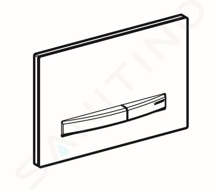 Geberit Sigma50 - Plaque de déclenchement 2 touches, noir/chromé noir 115.671.DW.2