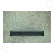 Geberit Sigma50 - Bedieningsplaat, dual flush spoeling, beton/zwart chroom 115.671.JV.2