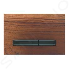 Geberit Sigma50 - Bedieningsplaat, dual flush spoeling, amerikaanse noot/zwart chroom 115.671.JX.2