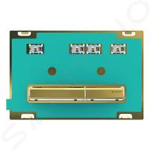 Geberit Sigma50 - Plaque de déclenchement 2 touches, laiton / sans plaque de finition 115.672.00.2