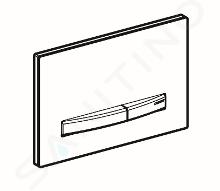 Geberit Sigma50 - Plaque de déclenchement 2 touches, noir/laiton 115.672.DW.2