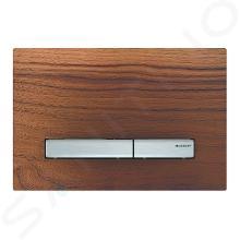 Geberit Sigma50 - Plaque de déclenchement 2 touches, noyer américain/chrome 115.788.JX.2