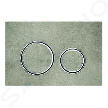 Geberit Sigma21 - Plaque de déclenchement 2 touches, décor béton/chrome 115.884.JV.1