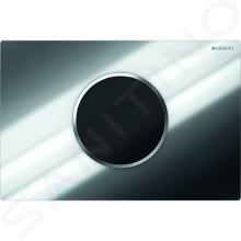 Geberit Sigma10 - Plaque de déclenchement électronique 2 touches, alimentation par piles, chrome brillant / chrome mat 115.908.KH.1