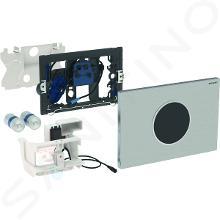 Geberit Sigma10 - Plaque de déclenchement électronique 2 touches, alimentation par piles, inox brossé / inox poli 115.909.SN.1