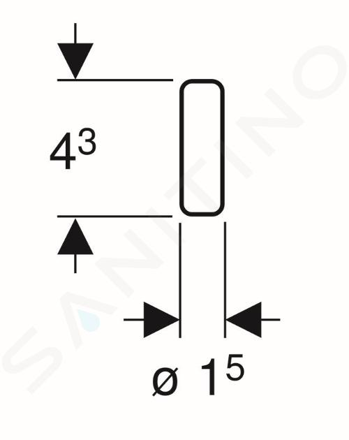 Geberit Accessoires - stick Duofresh, 8x 244.600.00.1