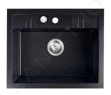 Novaservis Drezy - Granitový drez 580x480 mm, grafit DRGM1/48/58HA