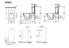 Villeroy & Boch Subway 2.0 - Réservoir de chasse à poser, 370x180 mm, CeramicPlus, blanc alpin 570611R1