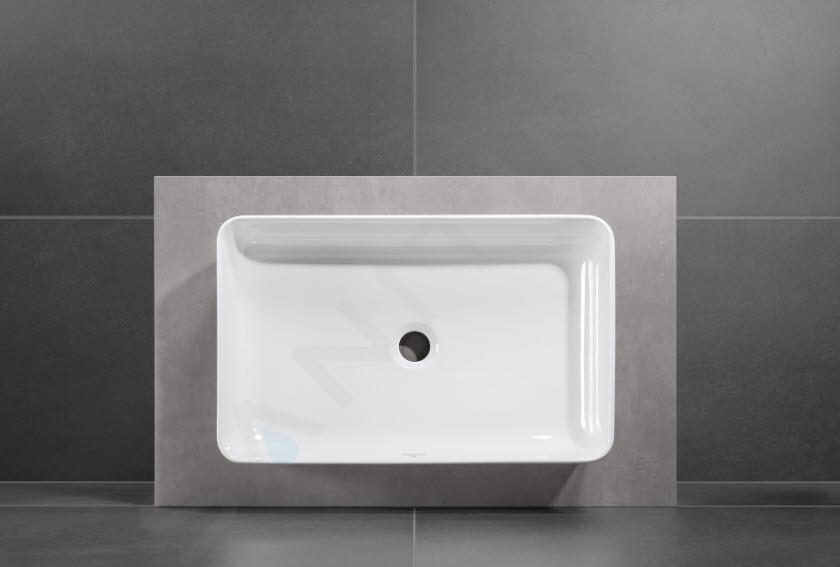 Villeroy & Boch Collaro - Waskom op blad, 560x360 mm, alpine wit 4A205601