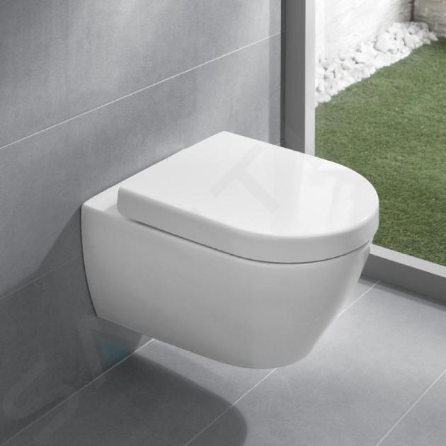 Villeroy & Boch Subway 2.0 - WC suspendu compact, DirectFlush, CeramicPlus, blanc alpin 5606R0R1