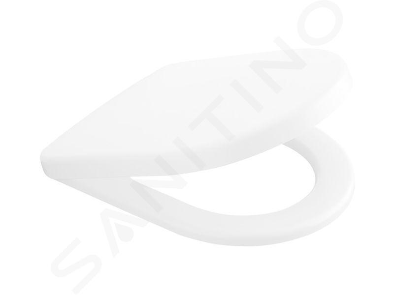 Villeroy & Boch Architectura - Wand-WC mit Sitz SoftClosing, DirectFlush, Alpinweiß 5684HR01