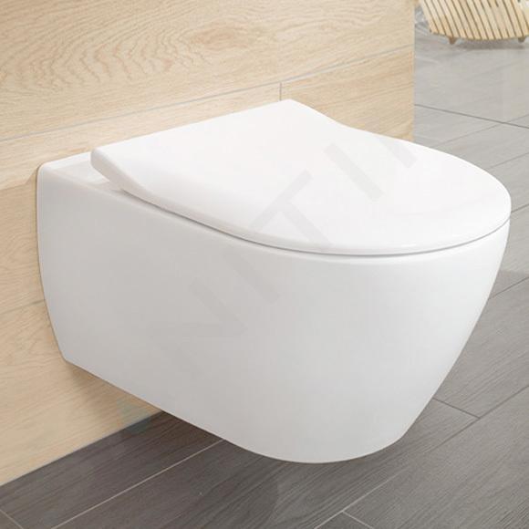 Villeroy & Boch Subway 2.0 - Wand-WC mit SoftClosing-Sitz, DirectFlush, CeramicPlus, Alpinweiß 5614R2R1