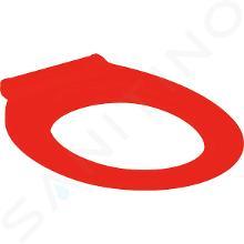Geberit Selnova Comfort - Abattant WC pour personne à mobilité réduite Square, sans couvercle, rouge carmin 500.134.00.2