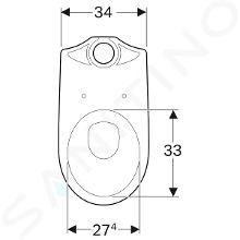 Geberit Selnova - cuvette de WC, sortie par le bas, 665x356 mm, blanc 500.151.01.1