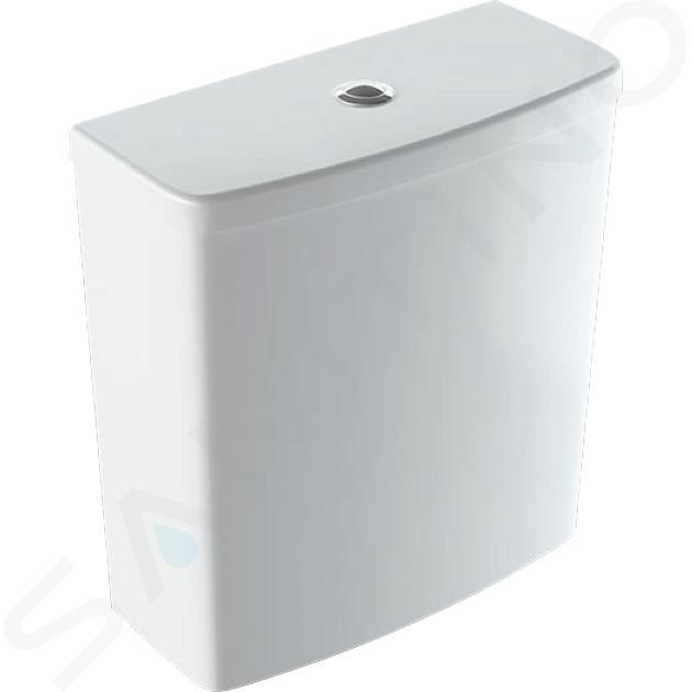 Geberit Selnova Square - Réservoir de chasse d'eau à installer sur cuvette de WC, arrivée de l'eau latérale, blanc 500.267.01.1