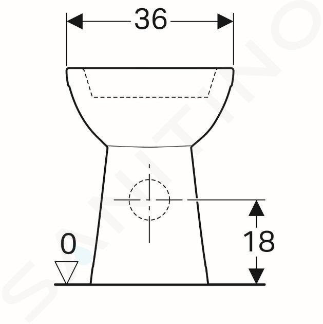 Geberit Selnova Comfort - cuvette de WC, sortie arrière, 670x360 mm, blanc 500.284.01.1