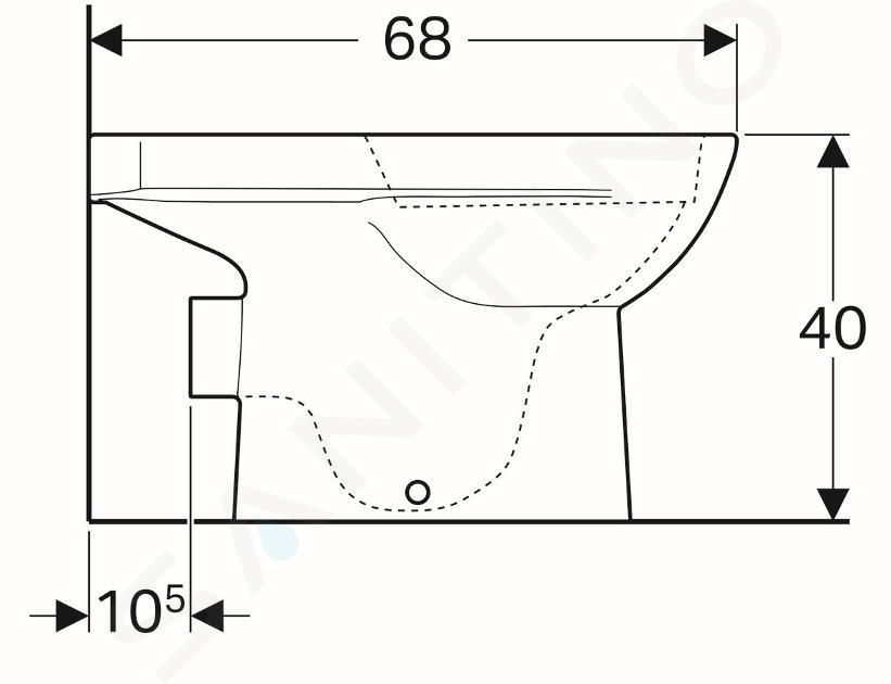 Geberit Selnova - cuvette de WC, sortie arrière, 680x360 mm, Rimfree, blanc 500.285.01.1