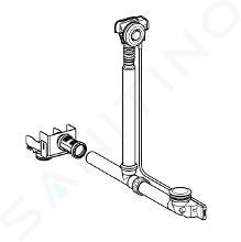 Geberit Accessori - Sistema di scarico e troppopieno per vasche da bagno, per collegamento a scarichi doccia a parete, cromo 154.246.00.1