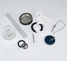Villeroy & Boch O.novo - Überlaufgarnitur für Keramikspülbecken, Chrom 94281061