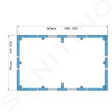 Villeroy & Boch Accessoires - Cadre de montage ViFrame pour receveurs en Quaryl à partir de 1000 x 1000 mm U91412400