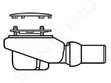Villeroy & Boch Subway Infinity - Sistema di scarico Tempoplex Plus Compact 90 mm, cromo opaco 92260069